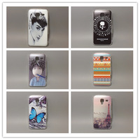 wholesale 10pcs/lottransparent side species Painted Hard Plastic Case For Samsung Galaxy Ace 2 i8160 8160 Free shipping