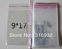 Clear Resealable Cellophane/BOPP/Poly Bags 9*17 cm  Transparent Opp Bag Packing Plastic Bags Self Adhesive Seal