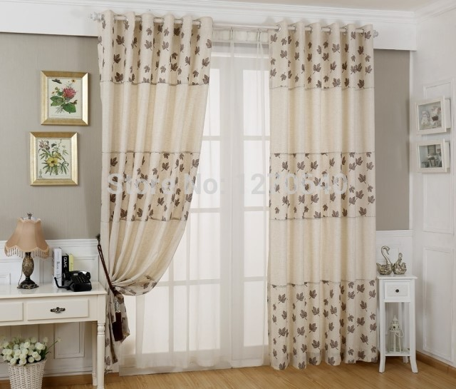 Latest designs of curtains cotton linen curtain screens - Latest curtain design for living room ...