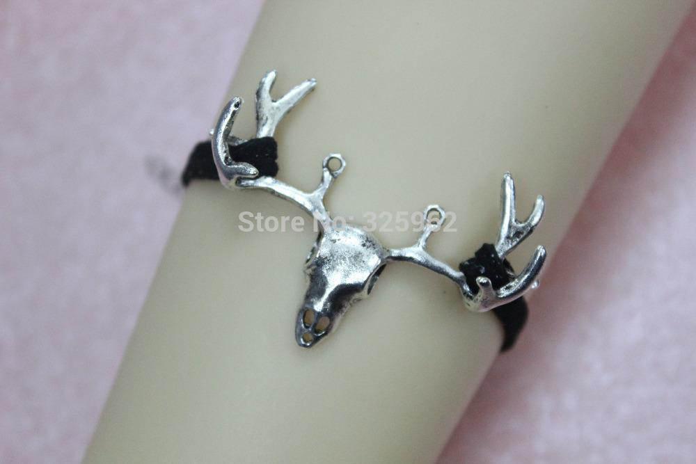 Deer Charm Bracelet Deer Bracelet Vintage Silver