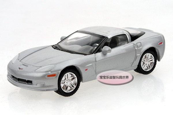 Free Shipping 1:64 Corvette 2007 Z06 silver refined Bao Baoai alloy car models(China (Mainland))