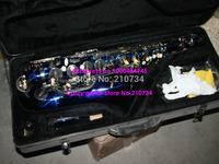 Wholesale -Blue Tenor Saxophone Stock samples, on sale