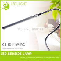 Free Shipping Modern 6W LED Office Desk Lamps DC12V Warm White Protect Eye Flexible tube LED Clamp Desk Light USB plug for power