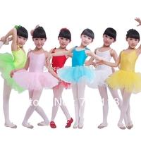 Children dance Tulle Dress Suspender Girl Ballet Dress Fitness Clothing Performance Wear Leotard Costume