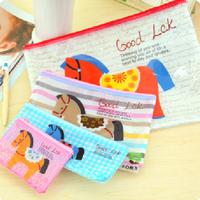 Trojan cartoon mesh zipper file pouch A4  folder bill bag 32*23.5 cm Free shipping OF005A4