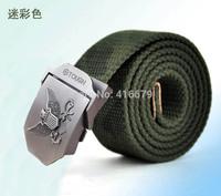 Fashion Canvas Premium S Shape Metal Mens strap man Ceinture Buckle Belt men's belts 110cm Free shipping