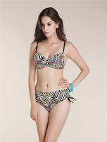 retro bikini printed fabric bikini  plus size bra sexy bikini  2015 new style