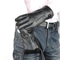 Three jin buttons really sheepskin gloves Sheep skin 113 men's gloves