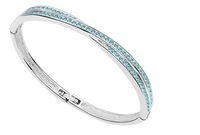 HOT!Free shipping, Charm Love in Winter Brand LuxuryCrystal Bangles, Make with SWA Elements, Simple Design (4- colors)
