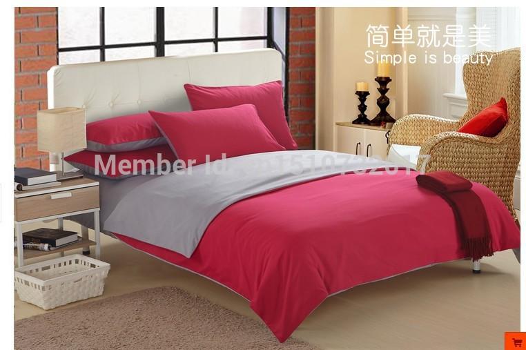 novo colorido 100% algodão jogo do fundamento 4 pcs luxo colcha edredon doona cover a roupa de cama conjuntos para rei queen size lençol conjunto(China (Mainland))