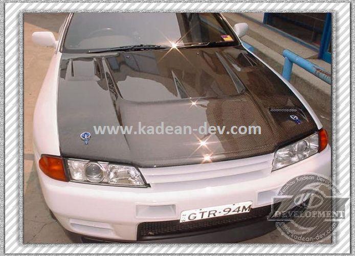 SKYLINE R32 GTR NISMO HOOD BONNET LIP COVER CARBON FIBER(China (Mainland))