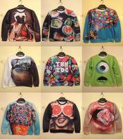 2015 New harajuku 3D print mens sweatshirt hoodies sportswear moleton men's sweaters AND pullovers winter women hoody tracksuits
