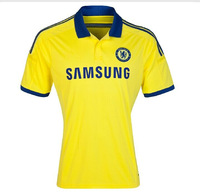 Thailand   Quality   A+++      Chelsea  Away    Yellow   soccer  jerseys   2014 -2015    training  shirt     Free Shipping
