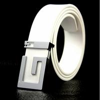 PU leather women&men waist strap fashion casual joker lady&gentle men belt classic letter design buckle unisex belts x 10pcs