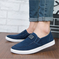 New 2014  Men's Shoes Han Edition Trend Of Breathable Men Casual Soild Canvas Fashion  Male Flats Shoes Free Shipping XMR236