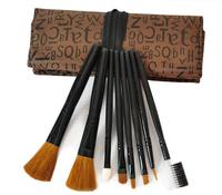 Professional  New Makeup Brush set 8 PCs Brush Cosmetic Make Up Set With Case Bag Kit, Free shipping HZS034