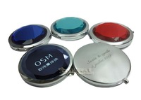 FREE CUSTOM Personailzed Compact Mirror with Pouch Wedding Bridal Favors Gift FREE ENGRAVING FREE SHIPPING