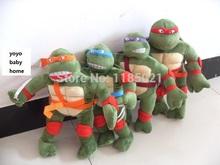 baby toy 2pcs/lot Teenage Mutant Ninja Turtles Figure 30CM Ninja Turtles tortoise Doll Plush Kids Toys Turtles Toy Wholesale(China (Mainland))