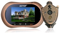 """Home 3.7""""  HD Touch Screen GSM MMS Alarm peephole viewer SD Card Supported of 2MP outdoor camera"""