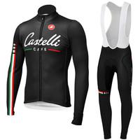 2014 Castelli Long Sleeve Cycling Jersey and Cycling Bib Pants Kit Castelli Cycling Clothing 2014 Size:S-XXXL Free Shipping