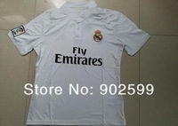 New arrival 14/15 real madrid Home white  best quality fans version soccer football jersey, real madrid National team jersey