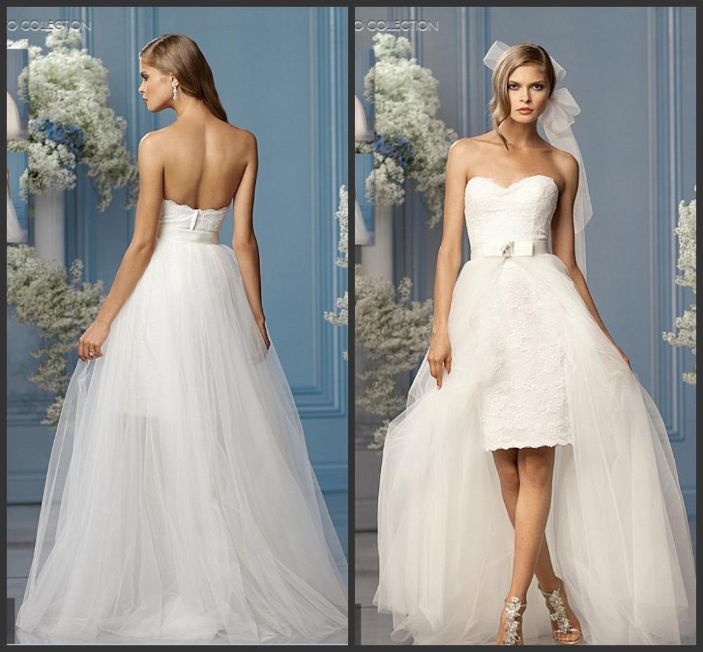 Short Low Back Wedding Dresses: Lace ball gown wedding dresses short ...