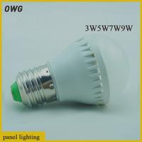 10PCS Wholesale E27 B22 Led Light Bulb 3W 5W 7W 9W LED Bulb Lamp, 220v 240V Cold Warm White Led Spotlight Free Shipping