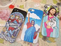 Free shipping+For iphone5 5s & 4 4s Jesus also love to play rock and roll phone cases for iphone 5 5s & 4 4s