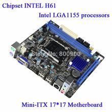 Soyo SY-H61G-M MINI-ITX PC motherboard full HD all solid chassis quad-core CPU mini itx motherboard LGA1155 4 SATAII Gigabit (China (Mainland))