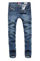 2014/7/5 Best Men's Clothing Men's Jeans GC8808 Mid-Rise Fashion Solid Straight Jeans Men