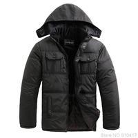 New 2014 Thicken Keep Warm Solid Stand Collar Men Down Jacket Free Shipping XL XXL XXXL