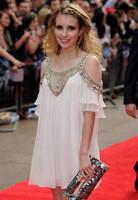2014 fashion white strapless beading warfactory chiffon plus size short one-piece dress