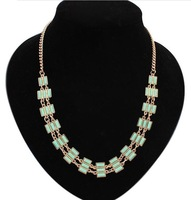 2014 new fashion women necklaces pendants statement necklaces chain necklace costume jewelry azora crystal necklaces