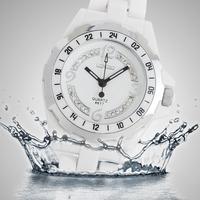 Free Shippping Top Luxury Ceramic Watch Luxury Elegant White Ceramic Water Resistant Sports Lady Women Dress Wrist Watch