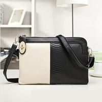 New 2014 fashion women handbag genuine leather women crocodile clutch bag shoulder bag messenger bag day clutch freeshipping