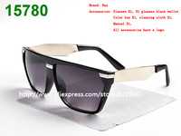 New Fashion Men Women Sunglasses EVIDENCE Sunglasses Millionaire Sun Glasses black White Red Brown (band box + cloth + case )