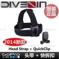 """ Genuine "" GoPro Hero 2/3/3 + Head Strap quick release buckle headband + QuickClip"