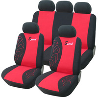 New Sport Style Cloth 9-piece Front Rear Car Seat Covers Set Protector cover Universal Fit Sedans Crossovers SUV