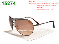 Retail Brand Retro frame aviator sunglasses men glasses sun box sunglass 2colors (band box + cloth + case )