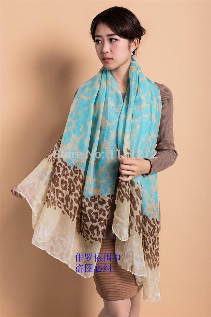 HOT SALE scarf leopard print women's scarf long shawl cape silk chiffon tippet muffler 2014 new design Scarves 90*180cm(China (Mainland))