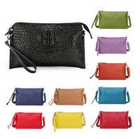 New fashion Embossed crocodile Pattern women evening bag handbag clutch purse black genuine leather shoulder bags messenger bag