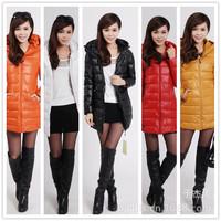 women's down \u0026 parkas cotton long paragraph Slim female models cotton padded hooded winter coat women