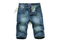 2014/7/5 Best Men's Clothing Men's Jeans Shorts GC9241 Mid-Rise Fashion Solid Straight Jeans Men
