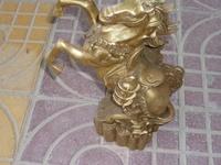 Rare Qing Dynasty (QianLong1736-1792) copper flying Horse Statue/ Sculpture