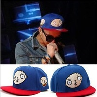 Korea Fashion Hiphop Bigbang  GD Same Style Cartoon Baby Hat Lovely Cute Blue Dance Hat Baseball Hat Hot Sale