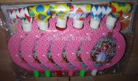 Birthday decorations Free shipping happy birthday girls party blowouts 6 pcs princess sofia theme blowouts