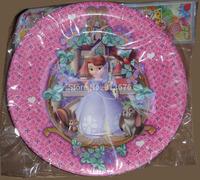 "Birthday direct new arrival 9"" birthday party paper plates 12 pcs princess sofia plates"