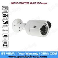 GT View Security CCTV 1280*720P 1.0MP ONVIF 2.0 Waterproof Outdoor IR CUT Night Vision P2P Mini Bullet IP Camera Plug and Play!