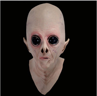 2014 NEW design Big Eye Realistic UFO Alien Head Mask Latex Creepy Costume Party Cosplay