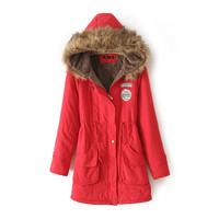 New women's Hoodies Ladies coats winter warm long coat jacket cotton clothes thermal parkas